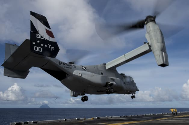 MV-22 taking off from USS Makin Island