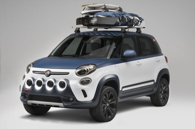 Fiat hangs ten with surf-inspired 500L Vans concept