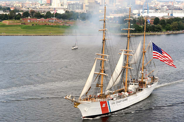 USCG Coast Guard US Coast Guard Barque Eagle Star Spangled 200 Baltimore Maryland Fritts