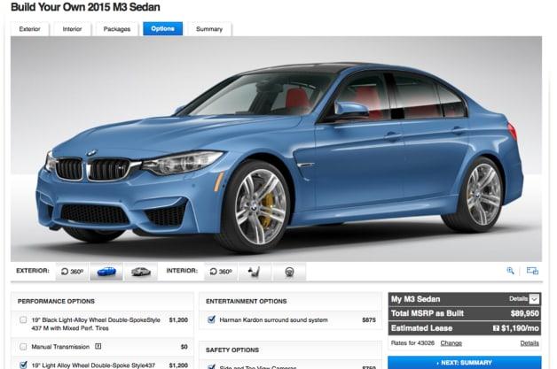 BMW M3 Configurator