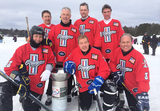 Bill Ford and Ford Pond Hockey Team