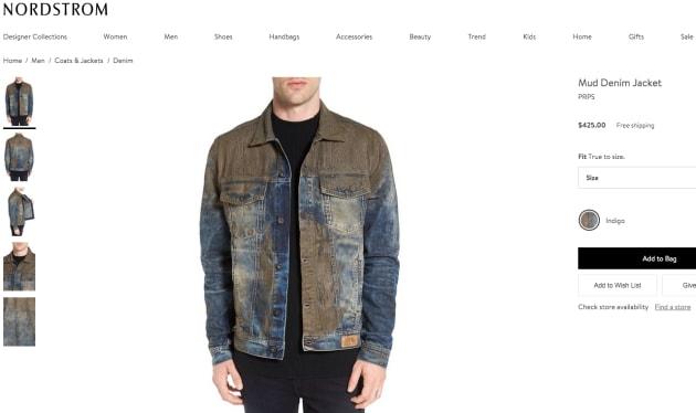 Le jean avec de la fausse boue qui scandalise le web !