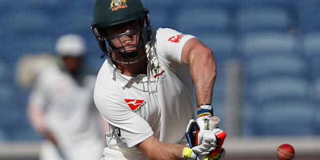 Australia all-rounder Mitchell Marsh returns home from India with a shoulder problem