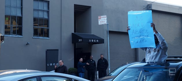 Uber drivers' rates protest takes to the SF streets