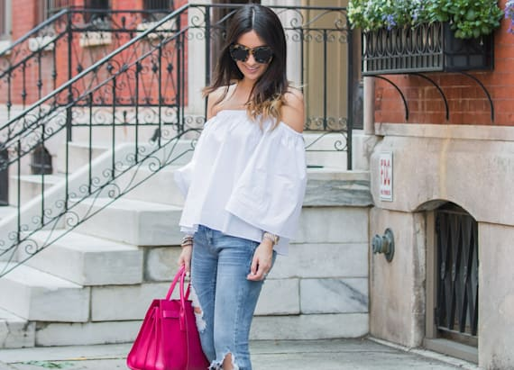 Street style tip of the day: Off shoulder vibes