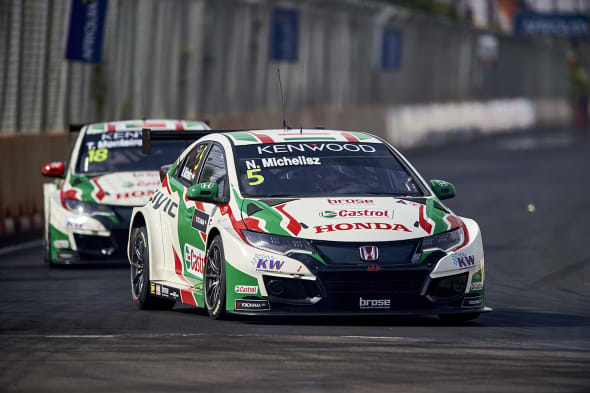 2017 EVENT: Race of Morocco  TRACK: Circuit Moulay El Hassan - Marrakech TEAM: Castrol Honda World Touring Car Team CAR: Honda Civic wtccDRIVER: Norbert Michelisz