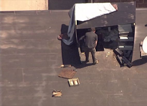 Thieves cut into bank's roof, steal safety boxes