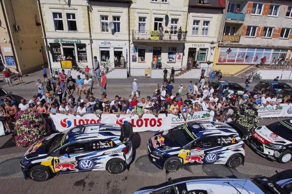 Sebastien Ogier (F), Julien Ingrassia (F)Jari-Matti Latvala (FIN), Miikka Anttila (FIN)Volkswagen Polo R WRC (2015)WRC Rally Poland 2015