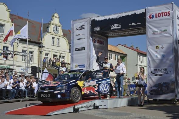 Jari-Matti Latvala (FIN), Miikka Anttila (FIN)Volkswagen Polo R WRC (2015)WRC Rally Poland 2015