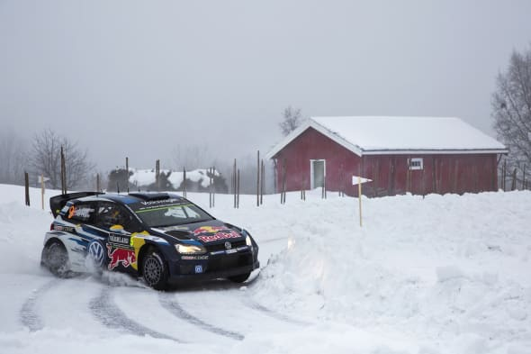 Andreas Mikkelsen (NOR), Ola Fløene (NOR)Volkswagen Polo R WRC (2015)Rally Sweden 2015