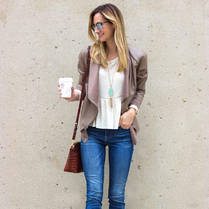 Street style tip of the day: Skinny jeans & peep toe booties