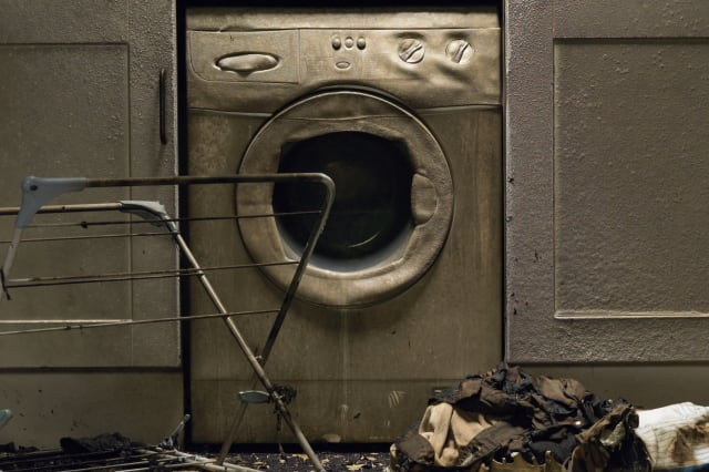Washing machine fire (stock photo)