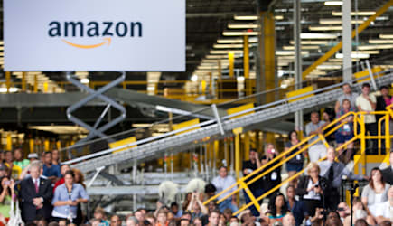 President Obama Makes Economic Policy Speech At An Amazon Fulfillment Center