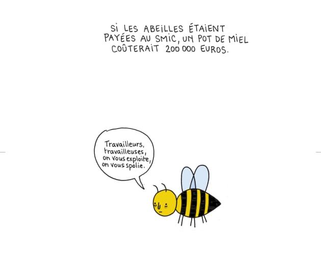 Quel point les abeilles sont exploit es pour leur miel en un dessin - Quel point cardinal pour dormir ...