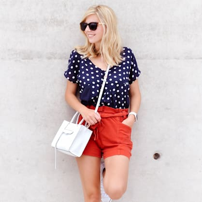 Street style tip of the day: Red, white and blue
