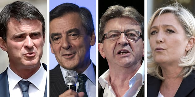Benoît Hamon et Manuel Valls donnés au coude à coude