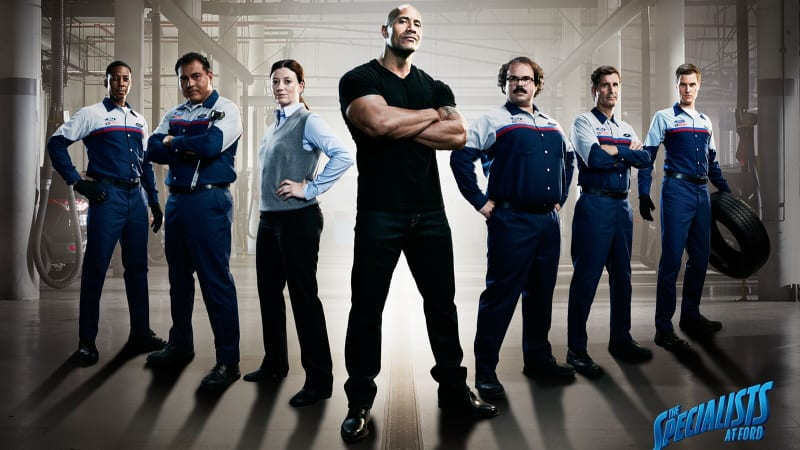 Dwayne 'The Rock' Johnson promotes Ford service