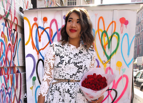 Street style tip of the day: Open hearted