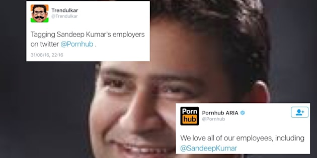 Pornhub Joins The Party As Twitter Mercilessly Trolls Sacked AAP Minister Sandeep Kumar