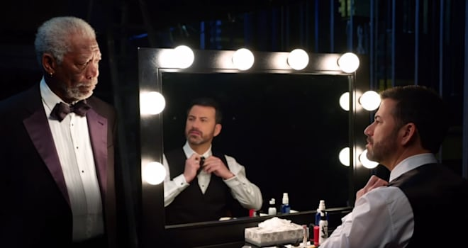 jimmy kimmel, morgan freeman, oscars, oscars 2017, promo