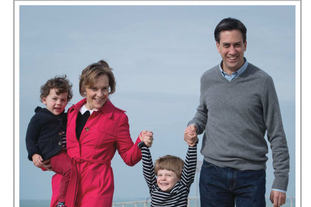 Miliband family Christmas card