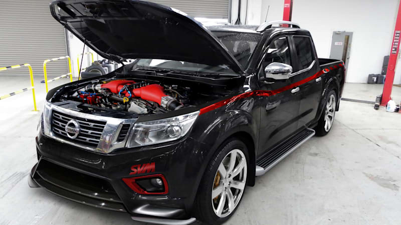 The Nissan Navara-R is an aftermarket GT-R pickup