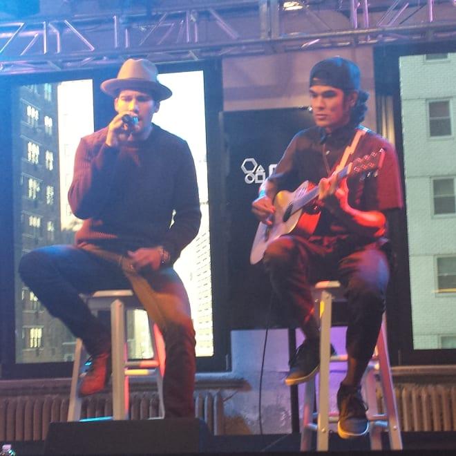 James Performing at AOL