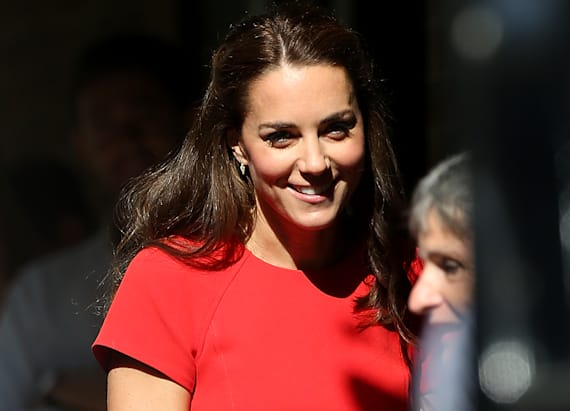 Kate Middleton stuns in red