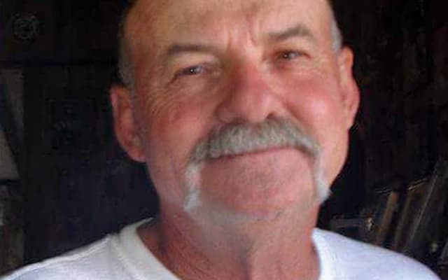 This undated photo provided by the Harvell family shows Richard Harvell, 67, of Boron, Calif., in the Mojave Deseert 70 miles north of Los Angeles. Friends and family members have joined authorities in searching for Harvell, apparently swept away during flash flooding that inundated California homes and roads last week. Kern County sheriff's spokesman Ray Pruitt said Monday that Richard Harvell of Boron was last seen Thursday evening, Oct, 15, while trying to save his truck from a torrent of mud. Pruitt says Harvell's truck was later found a short distance away in the Rosamond area. (Courtesy Harvell Family via AP)
