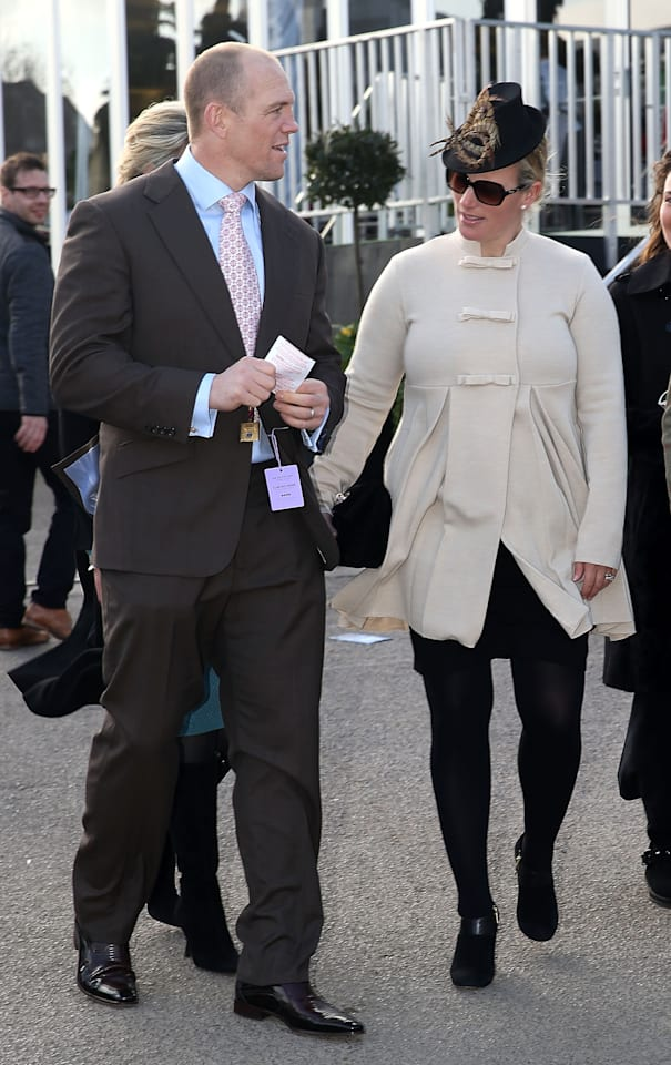 Zara Phillips And Mike Tindall Enjoy The First Day Of Cheltenham Races