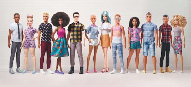 Mattel Unveils New Line Of Ken Dolls With Different Bodies, Skin Tones And Hair