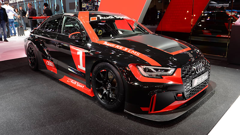 The Audi RS3 LMS looks hot and ready