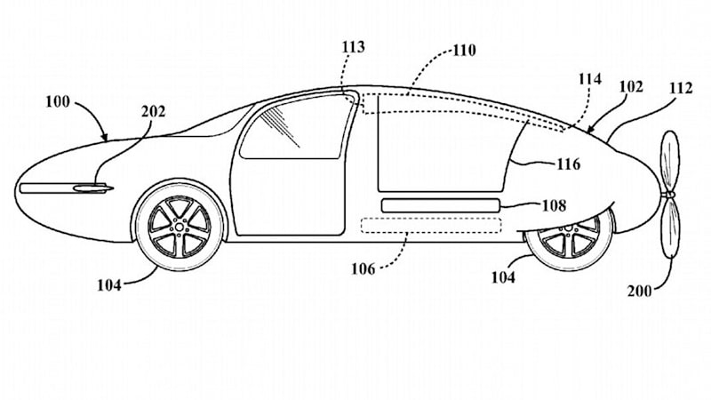 Toyota patent filing shows another hope for the flying car