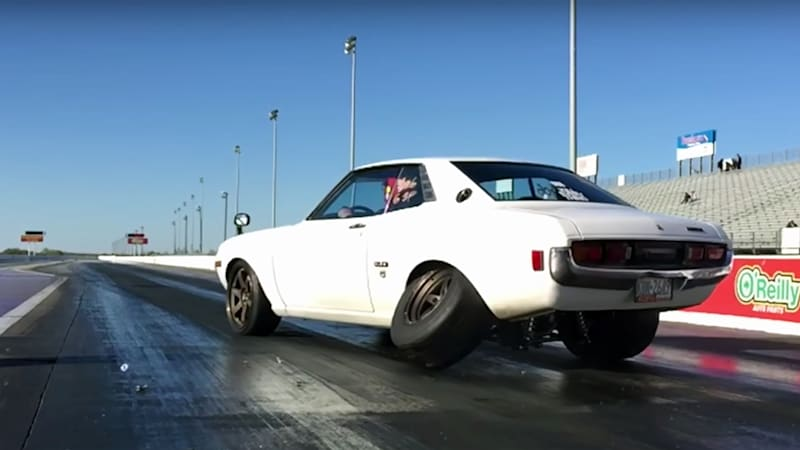 Watch a 1,000 hp Toyota Celica lose a wheel during drag race