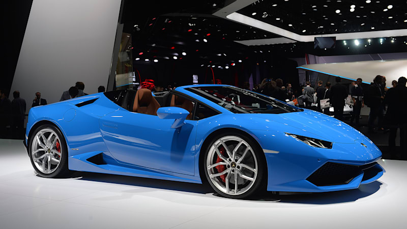 lamborghini huracan lp 610 4 spyder opens up in frankfurt autoblog. Black Bedroom Furniture Sets. Home Design Ideas