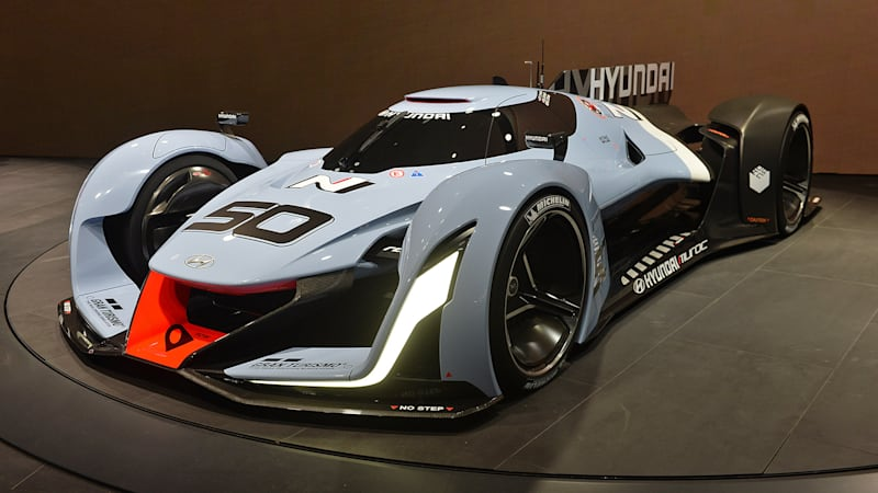 hyundai n 2025 vision gran turismo concept looks ready for le mans autoblog. Black Bedroom Furniture Sets. Home Design Ideas