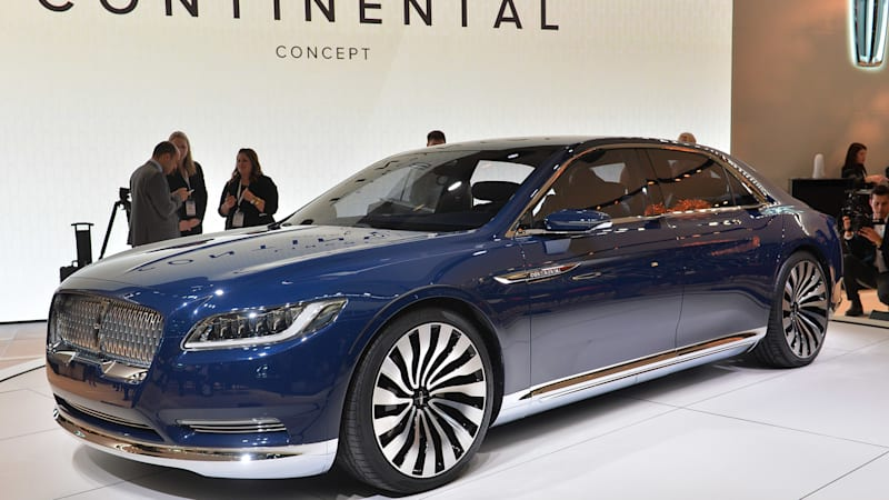 Production Lincoln Continental will debut at Detroit Auto Show