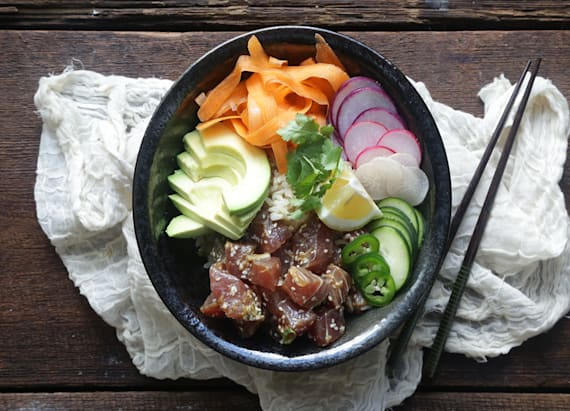 Fresh ahi tuna bowl recipe