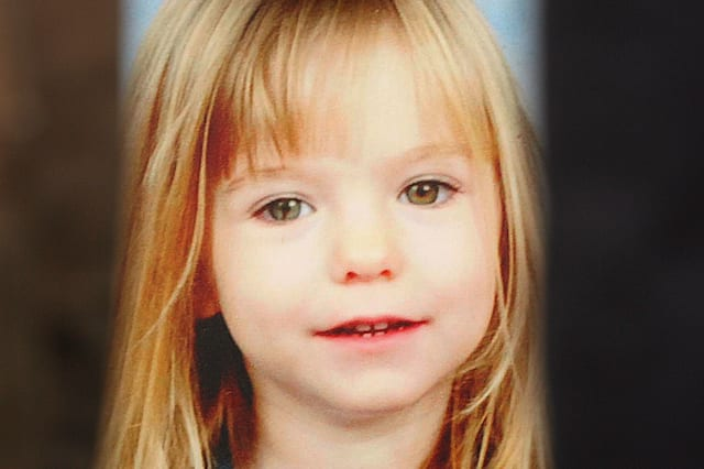 A picture of missing toddler Madeleine McCann