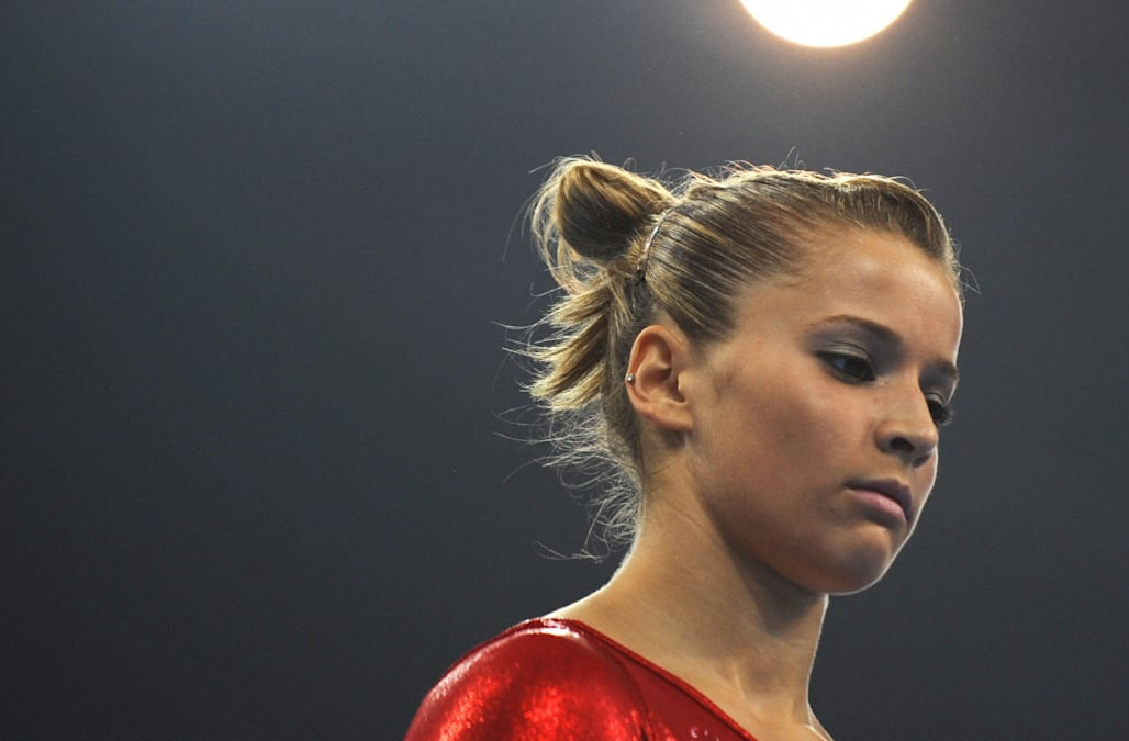 United States' Alicia Sacramone competes