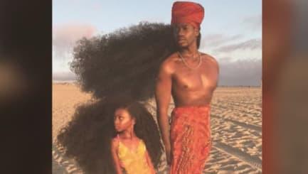 Haarpracht: Wie der Vater, so die Tochter