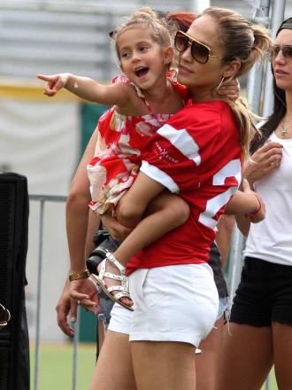Jennifer Lopez Pre-Concert Celebrity Football Game Benefiting Hurricane Sandy Relief