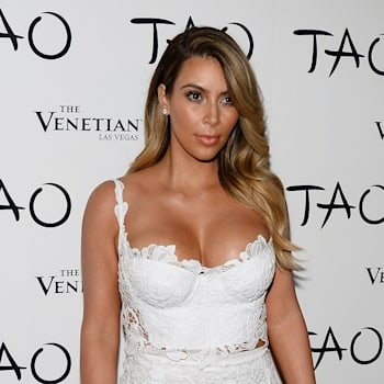 arrives at the Tao Nightclub at The Venetian Las Vegas to celebrate Kim Kardashian's 33rd birthday on October 26, 2013 in Las Vegas, Nevada.