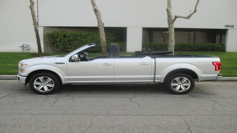 this convertible ford f 150 is the answer to a question we hadn 39 t considered automotive news. Black Bedroom Furniture Sets. Home Design Ideas