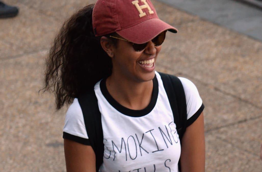 Malia Obama wears statement-making 'Smoking Kills' T-shirt at festival