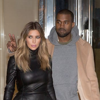 Kim Kardashian And Kanye West Sighting In Paris