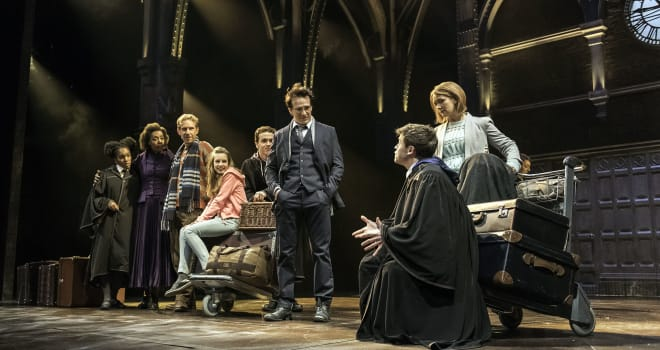 The cast of Harry Potter and the Cursed Child. Photo by Manuel Harlan