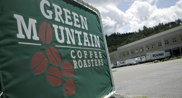 The exterior of Green Mountain Coffee Roasters is seen, Thur