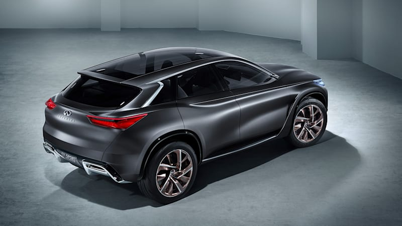Infiniti's QX Sport Inspiration is still attractive, in Paris, and now gray