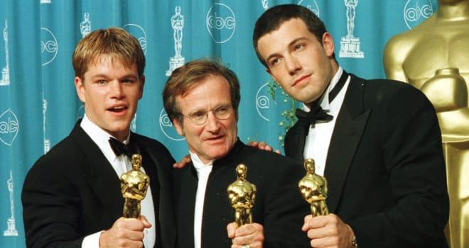 Actors-writers Matt Damon (L) and Ben Affleck (R)